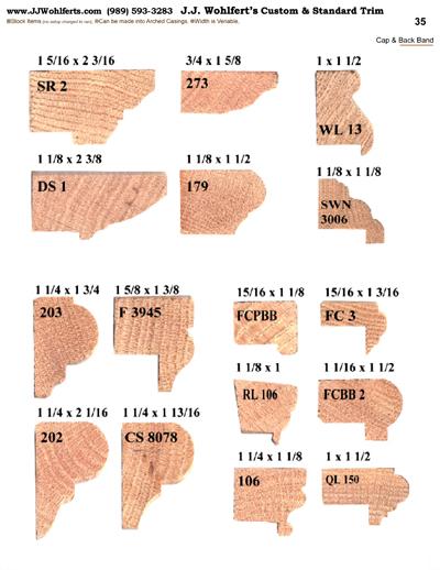 Wood Trim Profiles Catalog Page 35 J J Wohlfert S