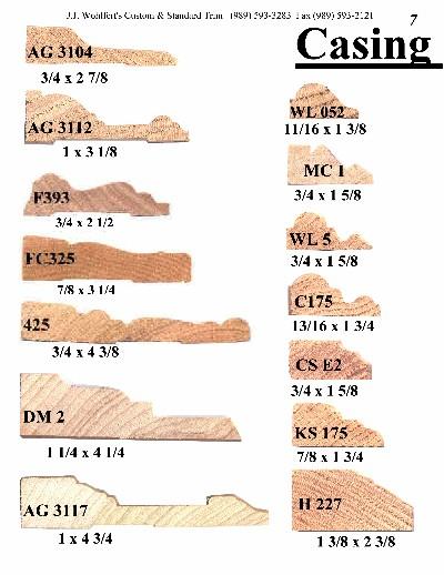 Casing Catalog Page 7 J J Wohlfert S Custom Wood